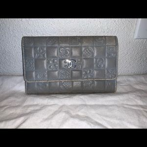 Authentic Chanel charms wallet case clutch bag